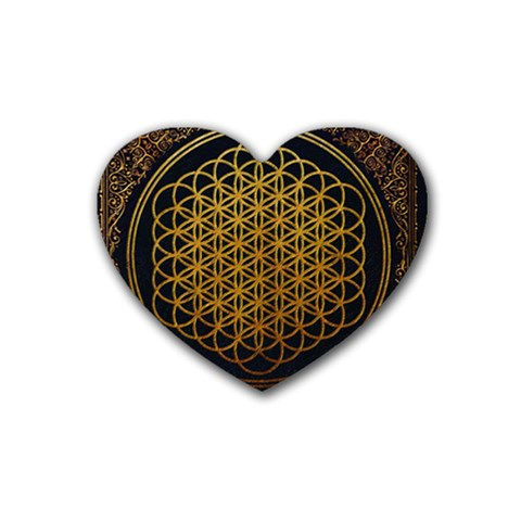 Bring Me The Horizon Cover Album Gold Heart Coaster (4 pack)