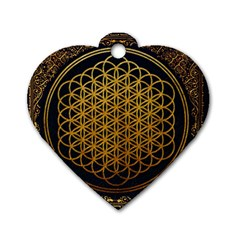 Bring Me The Horizon Cover Album Gold Dog Tag Heart (One Side)