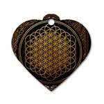 Bring Me The Horizon Cover Album Gold Dog Tag Heart (One Side) Front