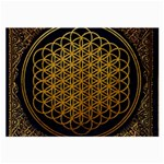 Bring Me The Horizon Cover Album Gold Large Glasses Cloth Front