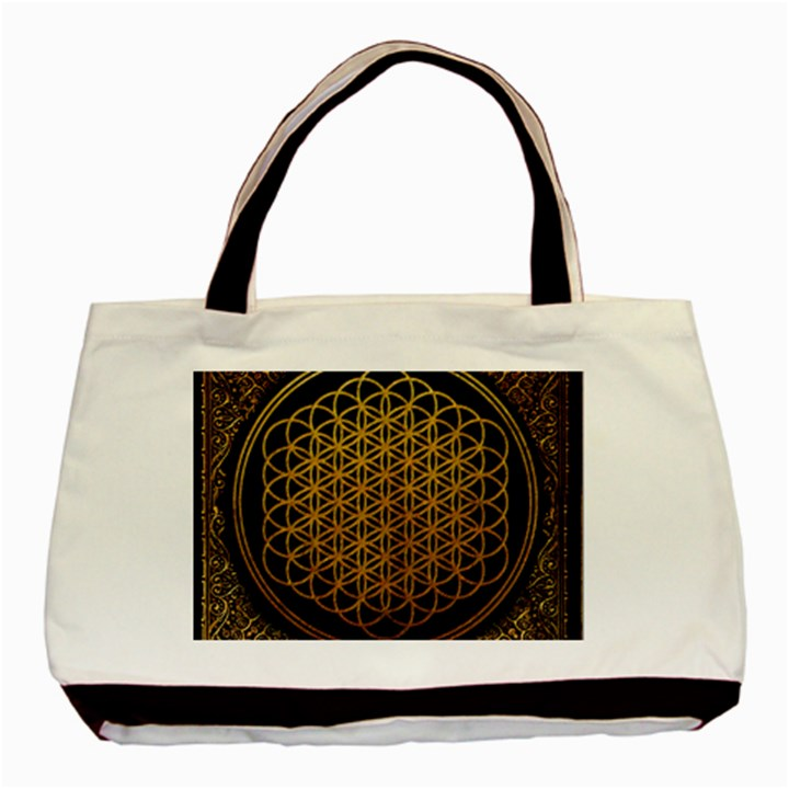 Bring Me The Horizon Cover Album Gold Basic Tote Bag (Two Sides)