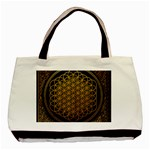 Bring Me The Horizon Cover Album Gold Basic Tote Bag (Two Sides) Back