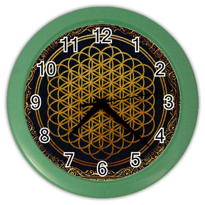 Bring Me The Horizon Cover Album Gold Color Wall Clocks