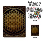 Bring Me The Horizon Cover Album Gold Multi-purpose Cards (Rectangle)  Back 12