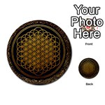 Bring Me The Horizon Cover Album Gold Multi-purpose Cards (Round)  Back 32