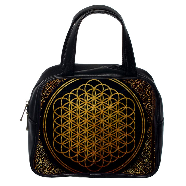 Bring Me The Horizon Cover Album Gold Classic Handbags (One Side)
