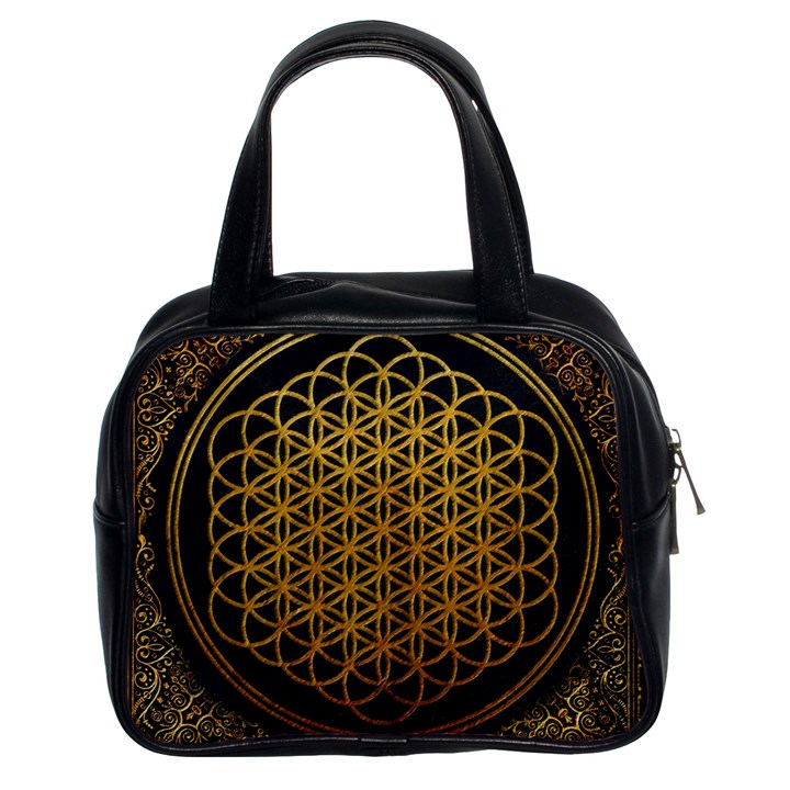 Bring Me The Horizon Cover Album Gold Classic Handbags (2 Sides)