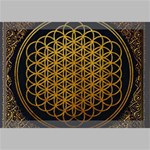 Bring Me The Horizon Cover Album Gold Canvas 18  x 12  18  x 12  x 0.875  Stretched Canvas
