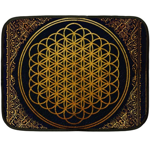 Bring Me The Horizon Cover Album Gold Double Sided Fleece Blanket (Mini)