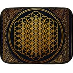 Bring Me The Horizon Cover Album Gold Double Sided Fleece Blanket (Mini)  35 x27 Blanket Back