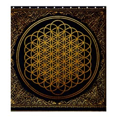 Bring Me The Horizon Cover Album Gold Shower Curtain 66  x 72  (Large)