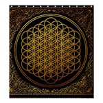 Bring Me The Horizon Cover Album Gold Shower Curtain 66  x 72  (Large)  66 x72 Curtain