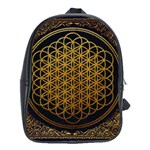Bring Me The Horizon Cover Album Gold School Bags(Large)  Front