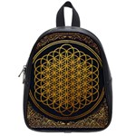 Bring Me The Horizon Cover Album Gold School Bags (Small)  Front
