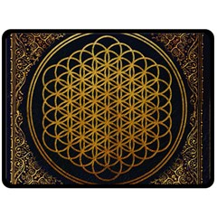 Bring Me The Horizon Cover Album Gold Fleece Blanket (large)