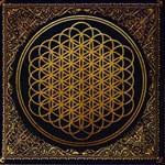 Bring Me The Horizon Cover Album Gold Storage Stool 12   Top
