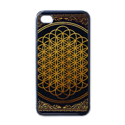 Bring Me The Horizon Cover Album Gold Apple iPhone 4 Case (Black)