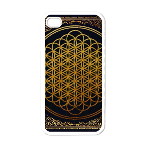 Bring Me The Horizon Cover Album Gold Apple iPhone 4 Case (White)