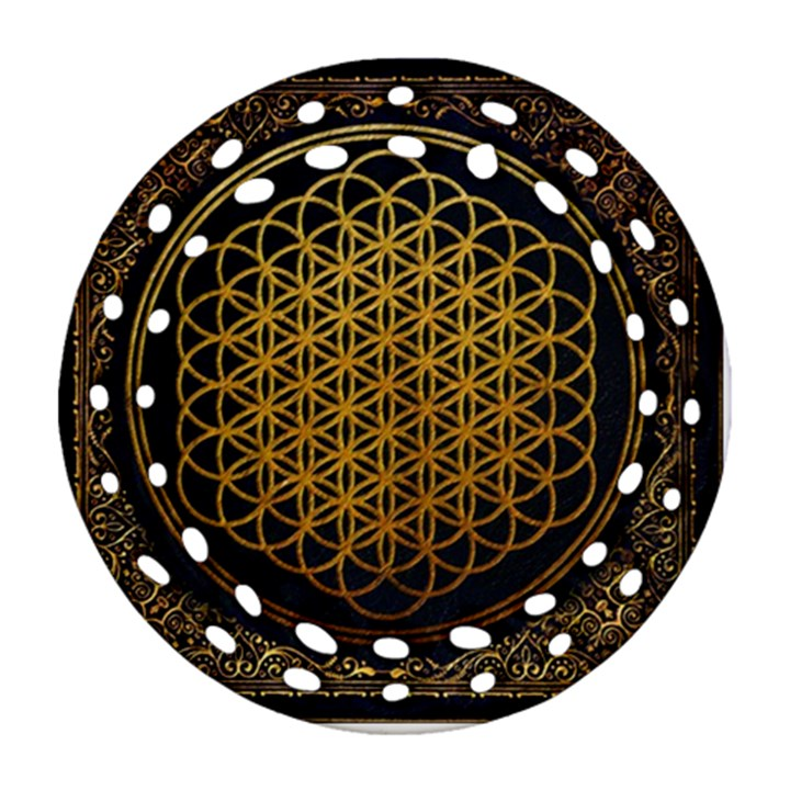 Bring Me The Horizon Cover Album Gold Ornament (Round Filigree)