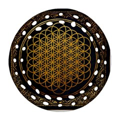 Bring Me The Horizon Cover Album Gold Round Filigree Ornament (2Side)