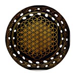 Bring Me The Horizon Cover Album Gold Round Filigree Ornament (2Side) Back