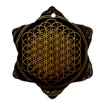 Bring Me The Horizon Cover Album Gold Snowflake Ornament (2-Side) Back