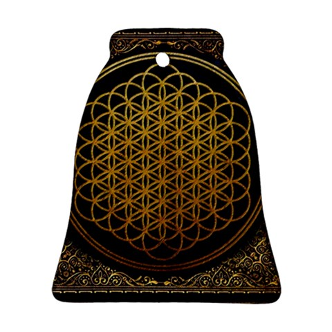 Bring Me The Horizon Cover Album Gold Bell Ornament (2 Sides)