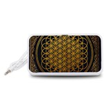 Bring Me The Horizon Cover Album Gold Portable Speaker (White)  Front