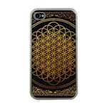 Bring Me The Horizon Cover Album Gold Apple iPhone 4 Case (Clear) Front