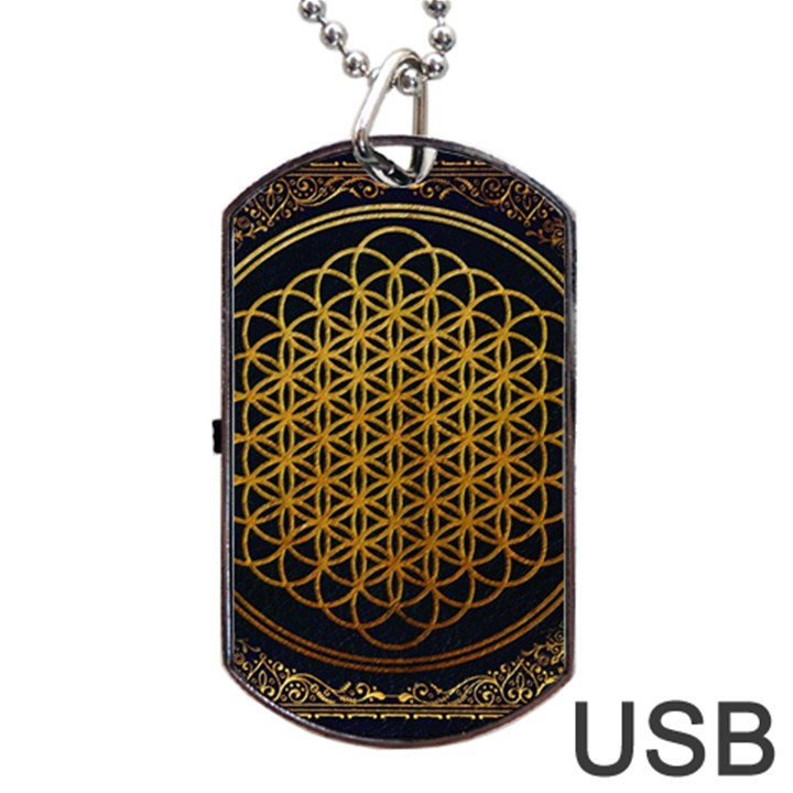 Bring Me The Horizon Cover Album Gold Dog Tag USB Flash (One Side)