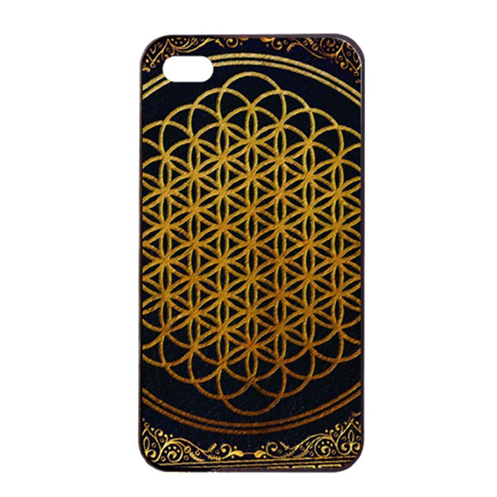 Bring Me The Horizon Cover Album Gold Apple iPhone 4/4s Seamless Case (Black)