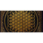 Bring Me The Horizon Cover Album Gold Twin Heart Bottom 3D Greeting Card (8x4) Front