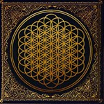 Bring Me The Horizon Cover Album Gold Twin Heart Bottom 3D Greeting Card (8x4) Inside