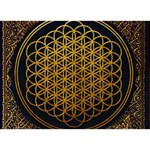 Bring Me The Horizon Cover Album Gold Peace Sign 3D Greeting Card (7x5) Front