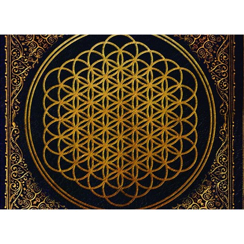 Bring Me The Horizon Cover Album Gold Birthday Cake 3D Greeting Card (7x5)