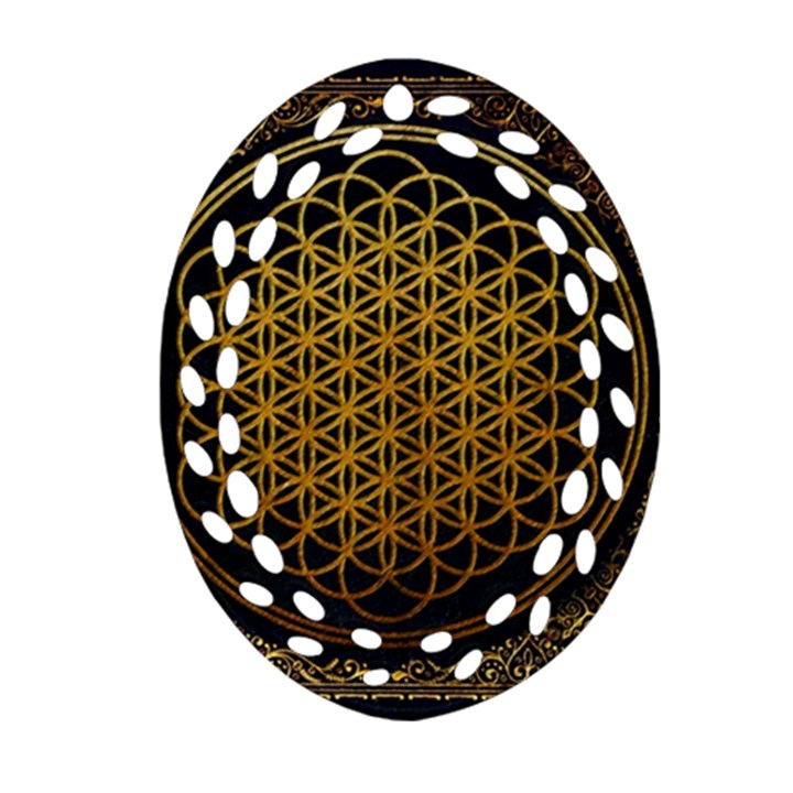 Bring Me The Horizon Cover Album Gold Ornament (Oval Filigree)