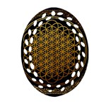 Bring Me The Horizon Cover Album Gold Oval Filigree Ornament (2-Side)  Front