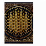 Bring Me The Horizon Cover Album Gold Small Garden Flag (Two Sides) Back