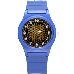 Bring Me The Horizon Cover Album Gold Round Plastic Sport Watch (S)