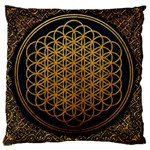 Bring Me The Horizon Cover Album Gold Large Cushion Case (One Side) Front