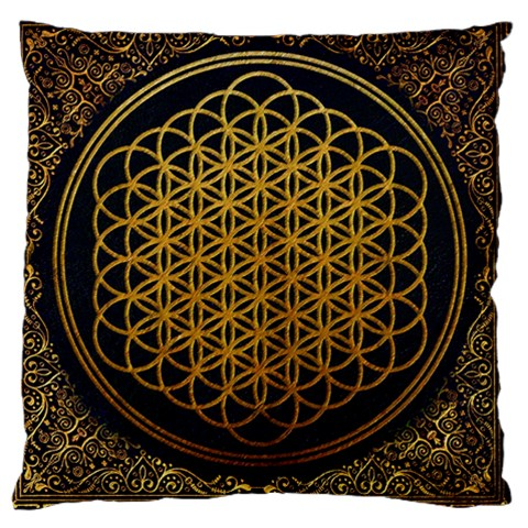 Bring Me The Horizon Cover Album Gold Large Cushion Case (Two Sides)