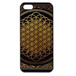 Bring Me The Horizon Cover Album Gold Apple iPhone 5 Seamless Case (Black) Front