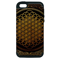 Bring Me The Horizon Cover Album Gold Apple Iphone 5 Hardshell Case (pc+silicone)