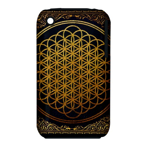 Bring Me The Horizon Cover Album Gold Apple iPhone 3G/3GS Hardshell Case (PC+Silicone)
