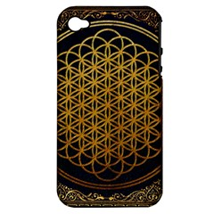 Bring Me The Horizon Cover Album Gold Apple iPhone 4/4S Hardshell Case (PC+Silicone)