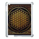 Bring Me The Horizon Cover Album Gold Apple iPad 3/4 Case (White) Front