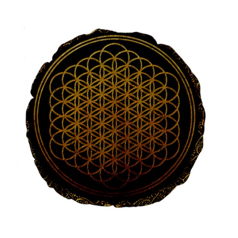 Bring Me The Horizon Cover Album Gold Standard 15  Premium Round Cushions