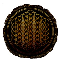 Bring Me The Horizon Cover Album Gold Large 18  Premium Round Cushions