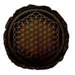 Bring Me The Horizon Cover Album Gold Large 18  Premium Round Cushions Back