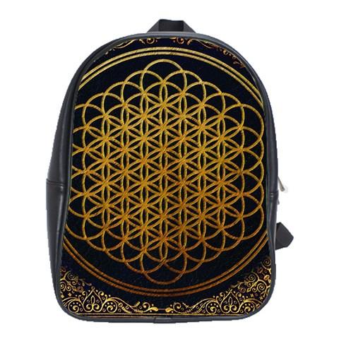 Bring Me The Horizon Cover Album Gold School Bags (XL)